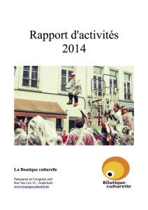 Couv Rapport d'activités 2014