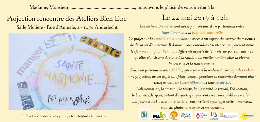 Carton invit Bien-être-coloured