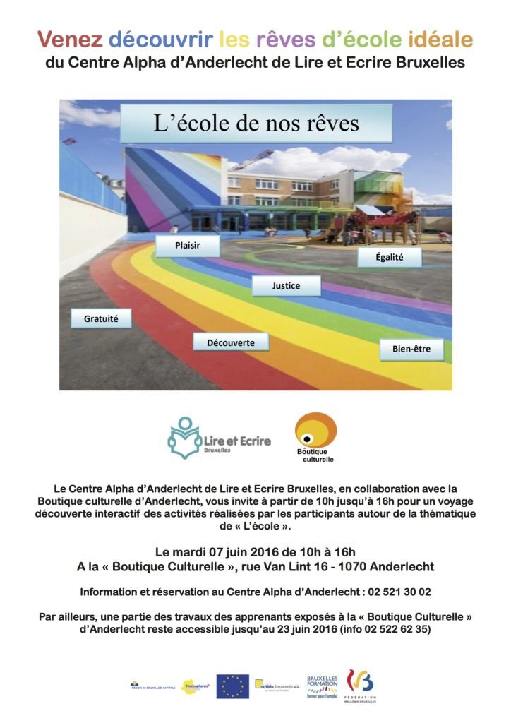 Ateliers artistiques chez Lire & Écrire : l'expo